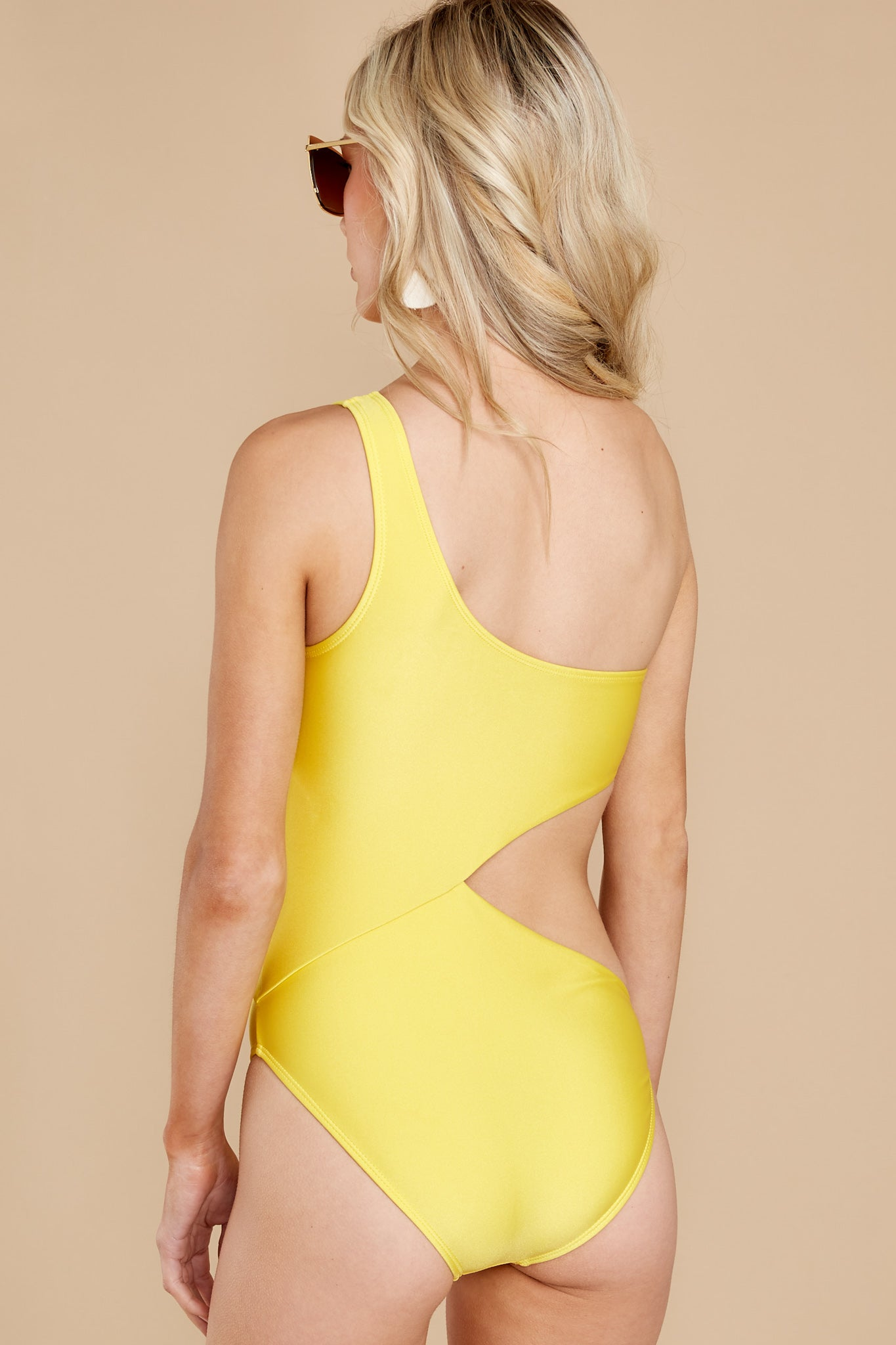8 Find A Wave Yellow One Piece Swimsuit at reddress.com