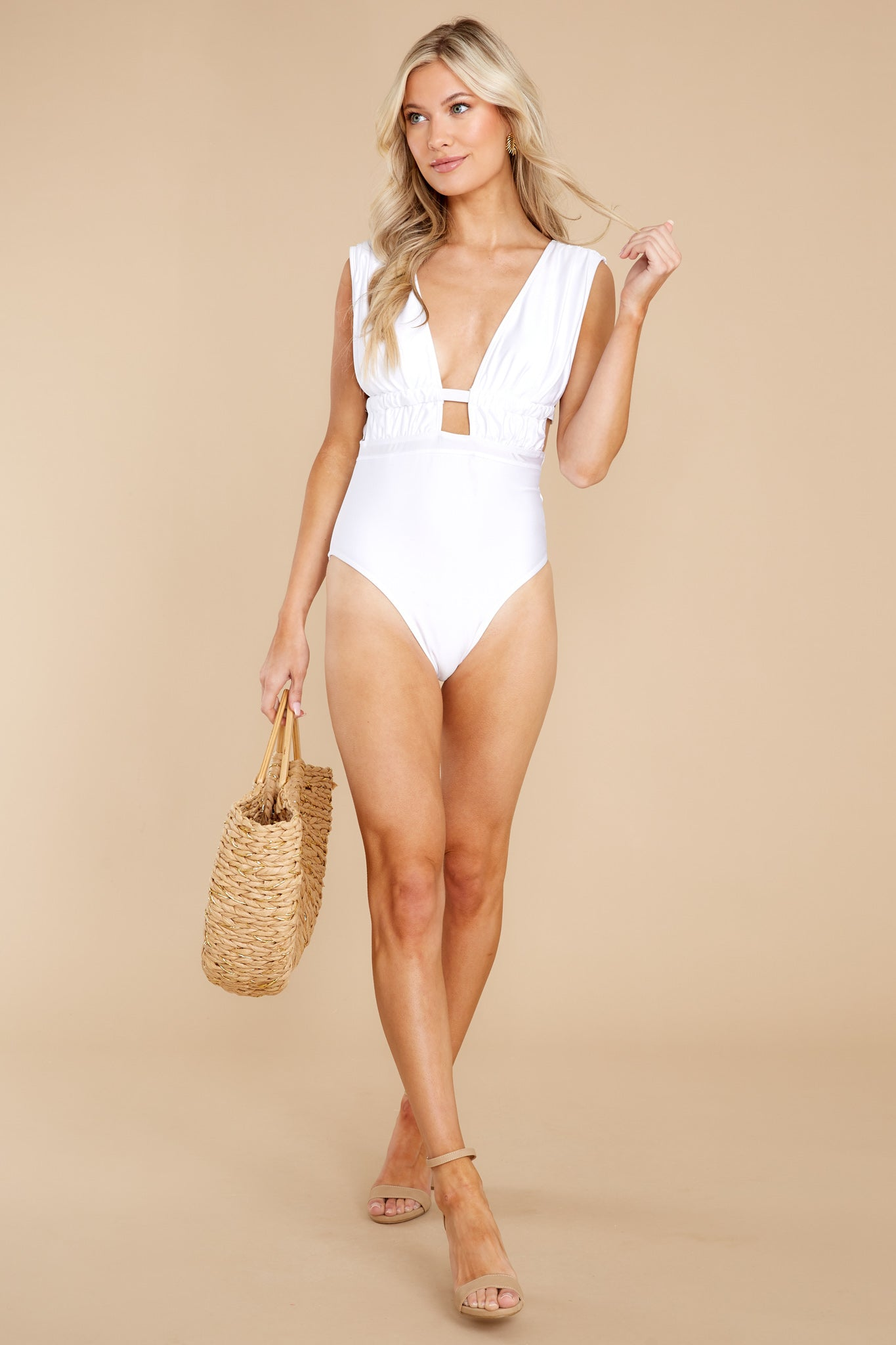 3 California Surf White One Piece Swimsuit at reddress.com