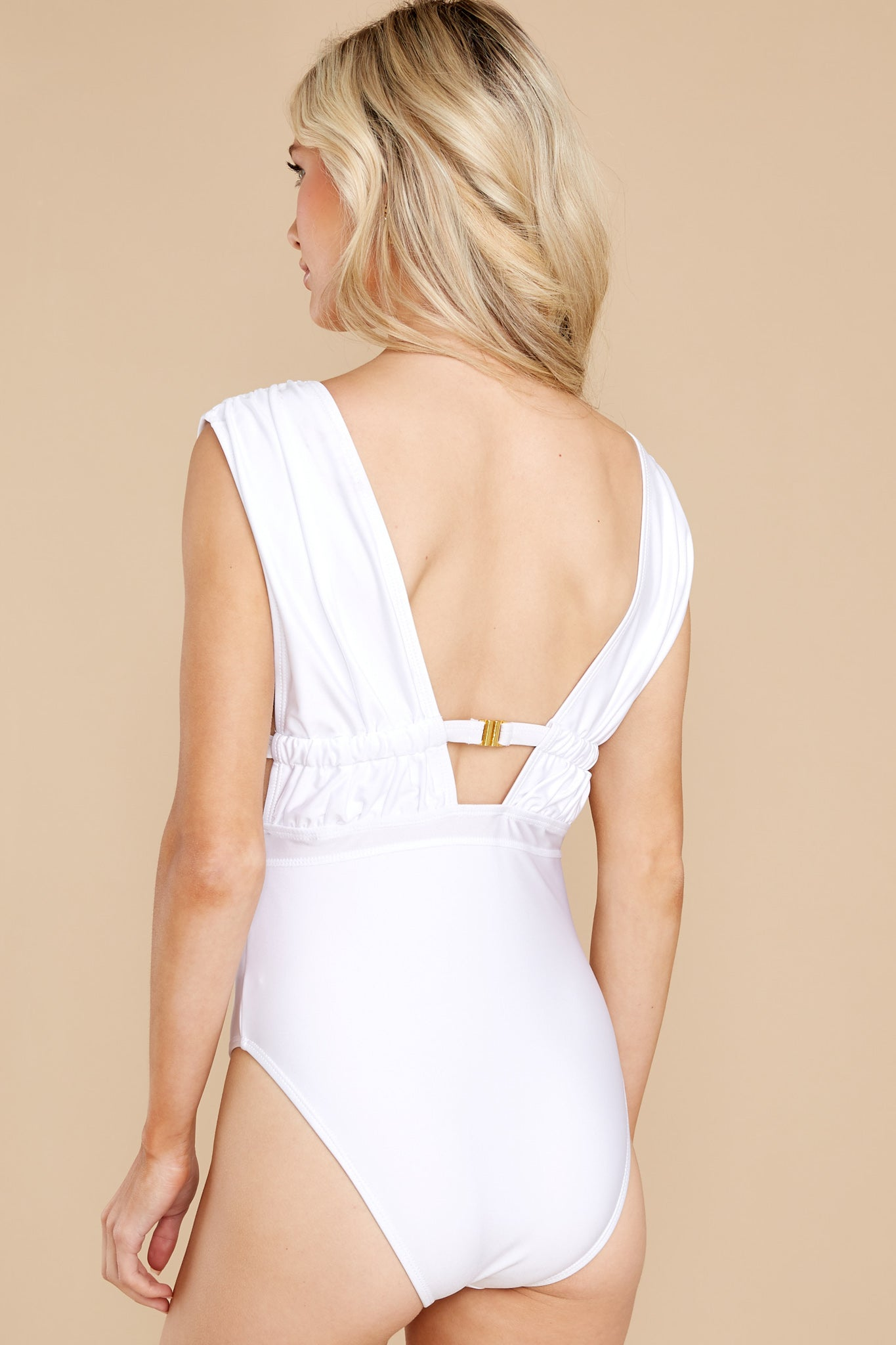 8 California Surf White One Piece Swimsuit at reddress.com
