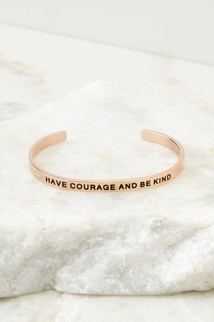 You're Braver Than You Believe Gold Bracelet
