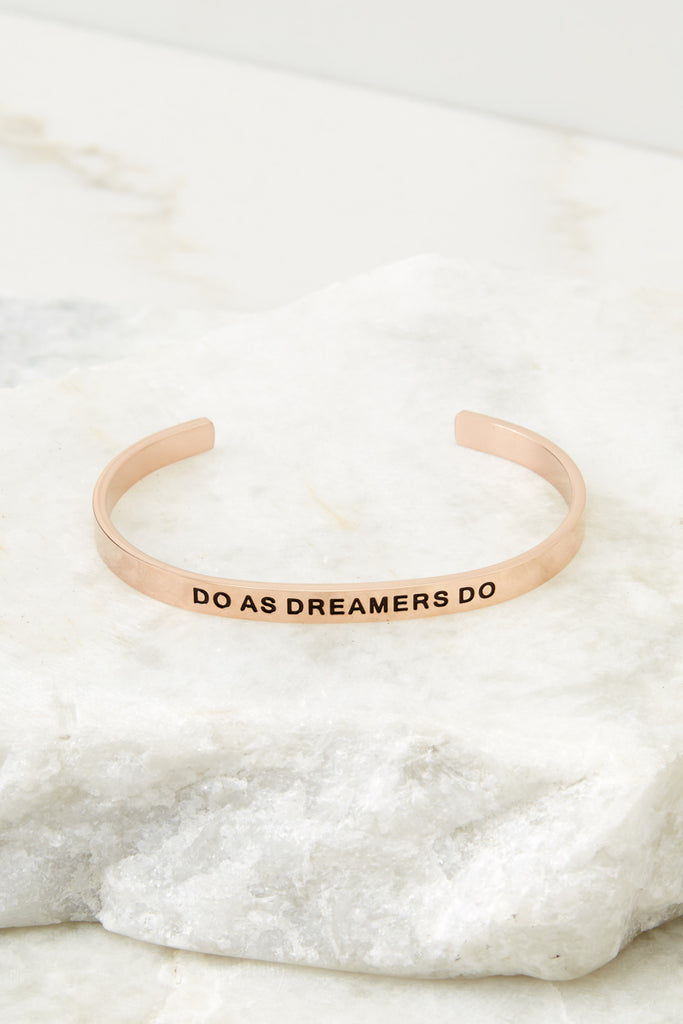 1 Do Or Do Not There Is No Try Gold Bracelet at reddressboutique.com
