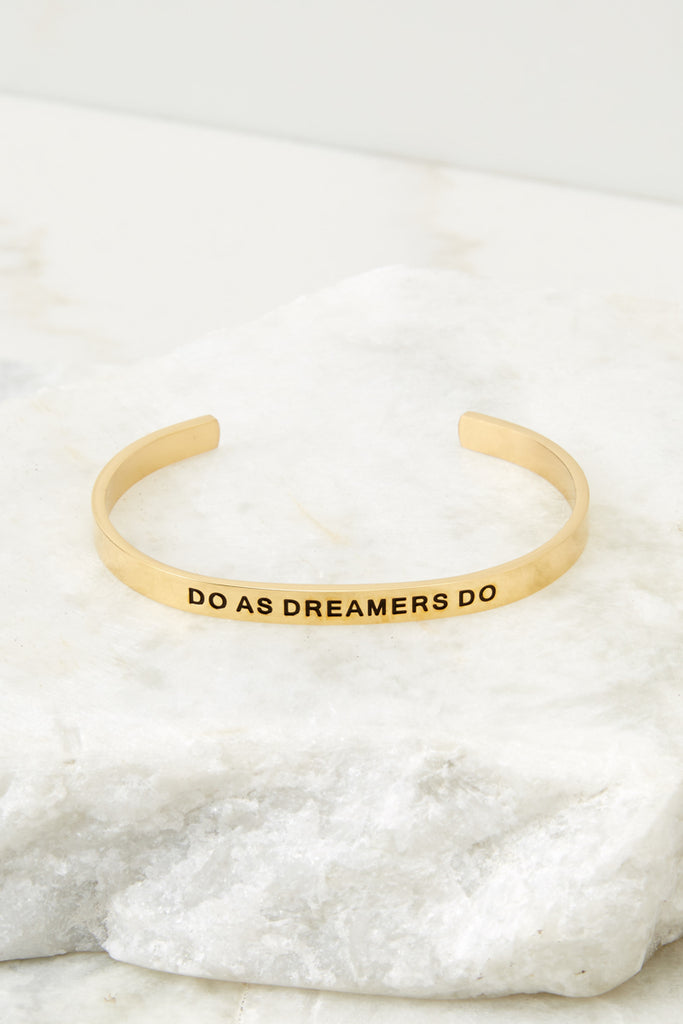 1 Do Or Do Not There Is No Try Rose Gold Bracelet at reddressboutique.com