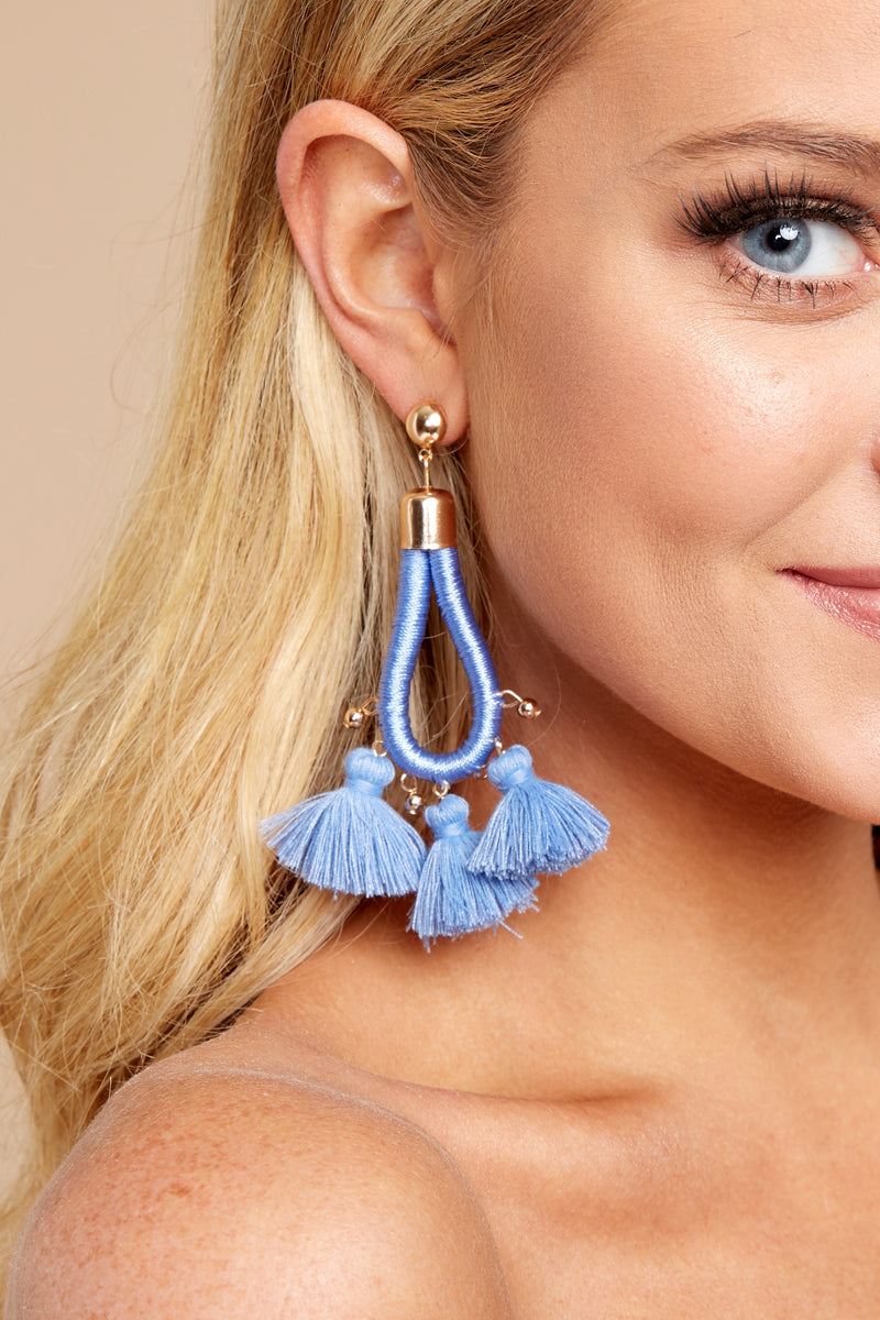 1 Finally Free Periwinkle Blue Earrings at reddressboutique.com