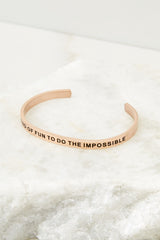 3 It's Kind Of Fun To Do The Impossible Rose Gold Bracelet at reddressboutique.com