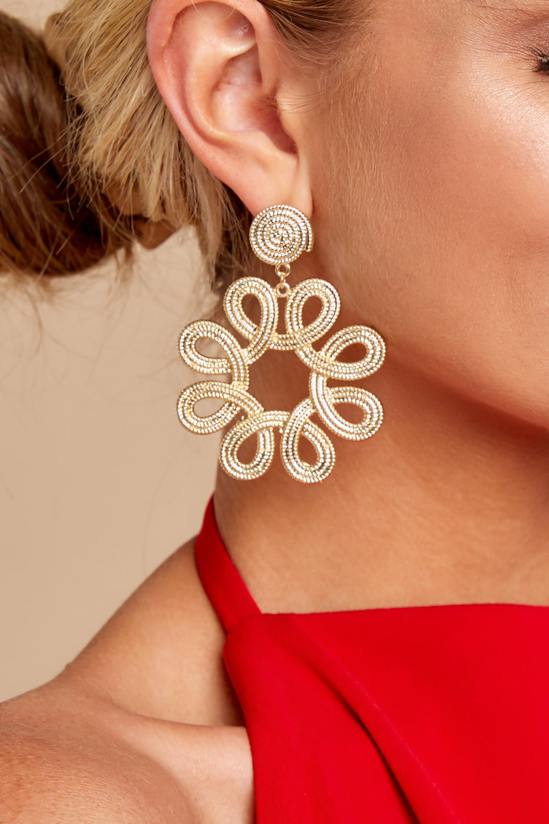 1 Just That Good Gold Earrings at reddressboutique.com