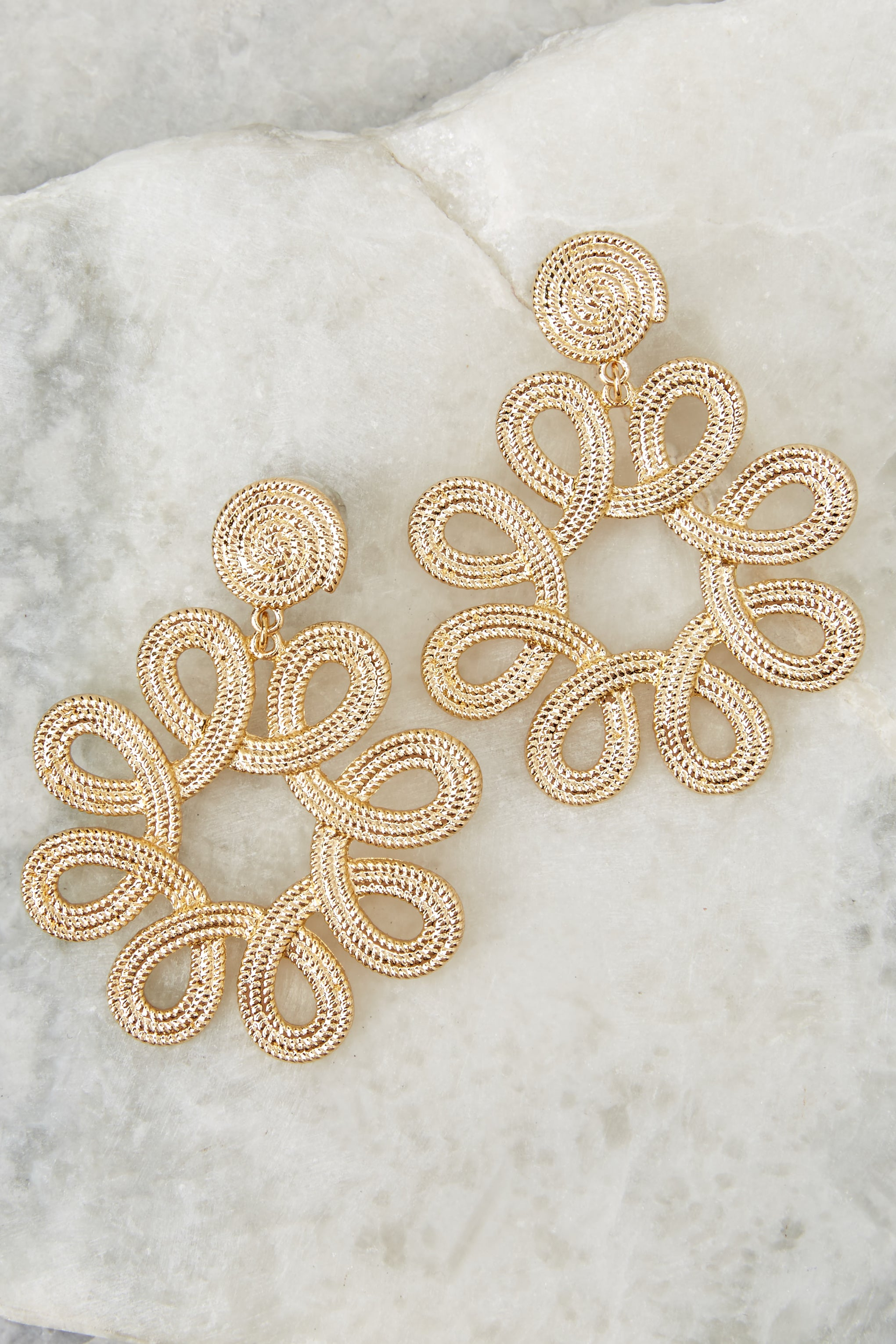 2 Just That Good Gold Earrings at reddressboutique.com