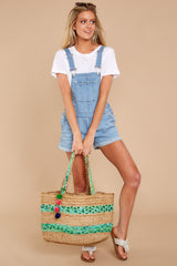 1 No One Can Deny Short Light Denim Overalls at reddress.com