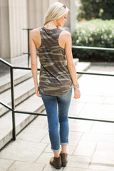 Z Supply Camo Pocket Racer Tank at reddressboutique.com