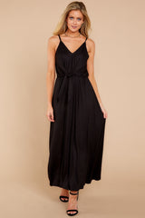 3 Think Again Black Midi Dress at reddressboutique.com