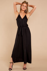 1 Think Again Black Midi Dress at reddressboutique.com