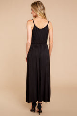 5 Think Again Black Midi Dress at reddressboutique.com