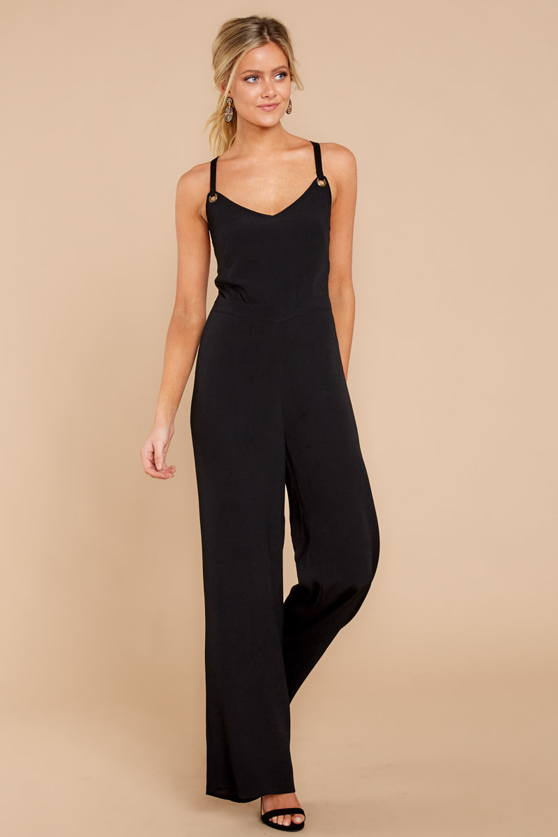 1 Only Up From Here Black Jumpsuit at reddressboutique.com