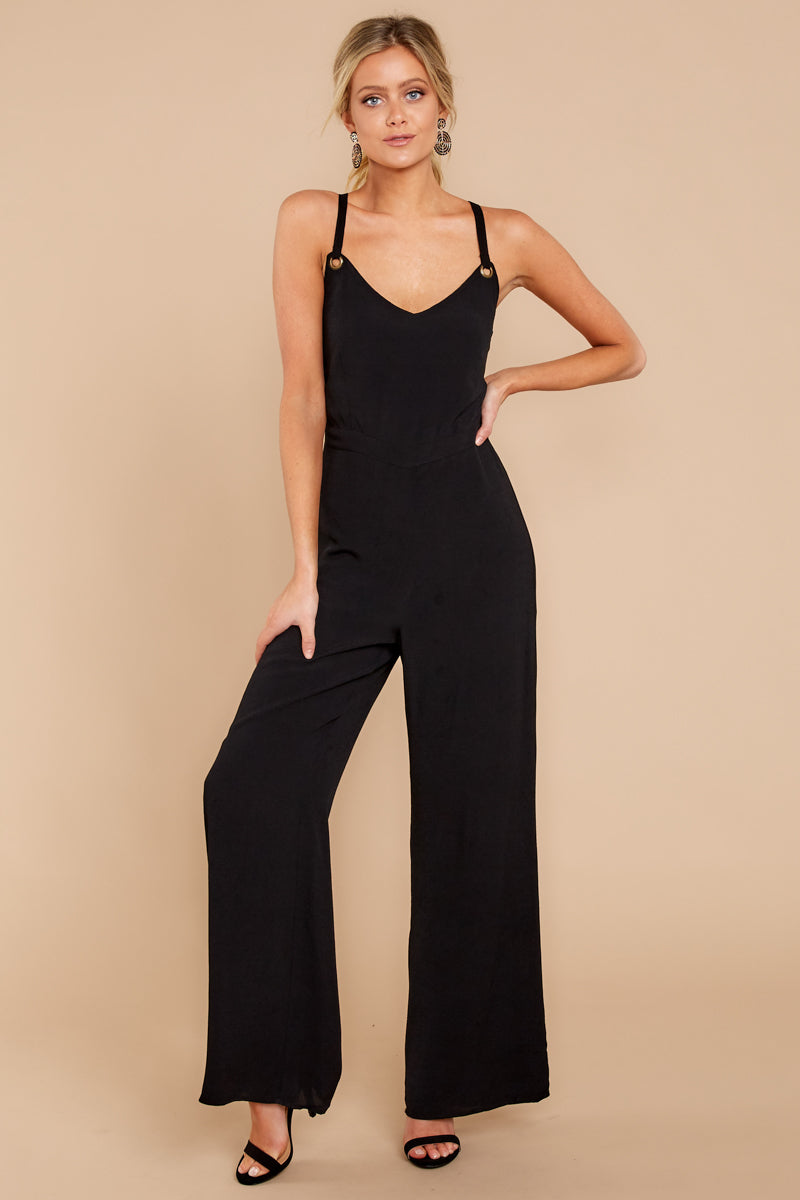 2 Only Up From Here Black Jumpsuit at reddressboutique.com