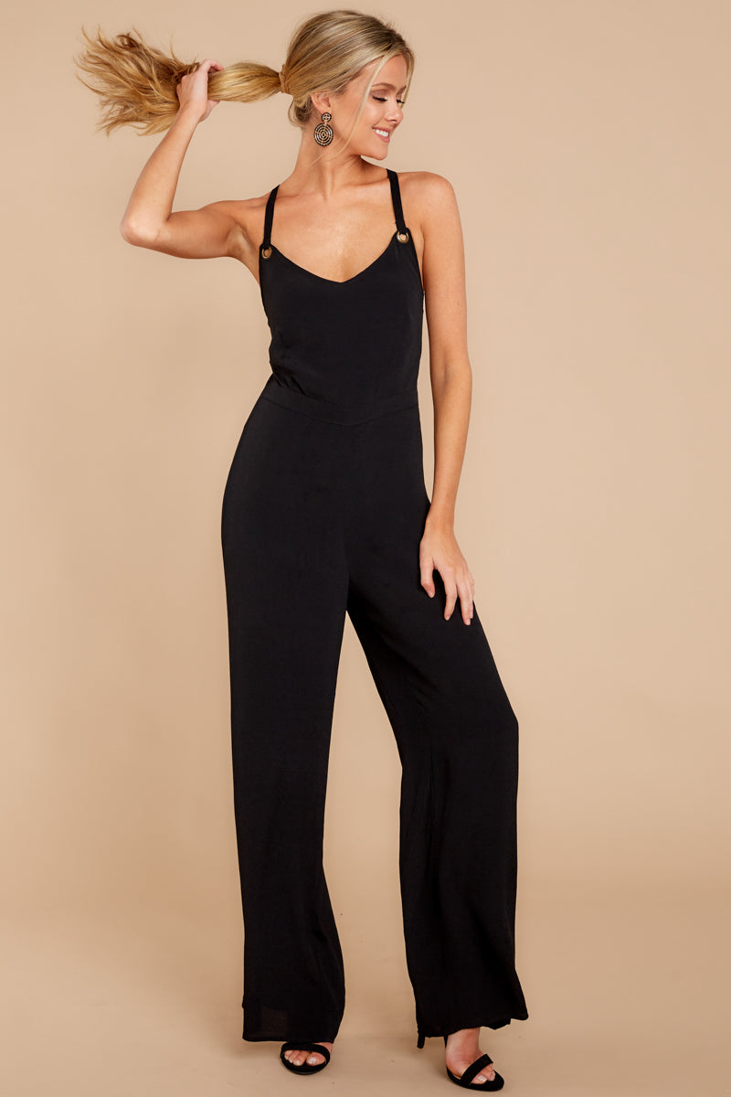 4 Only Up From Here Black Jumpsuit at reddressboutique.com