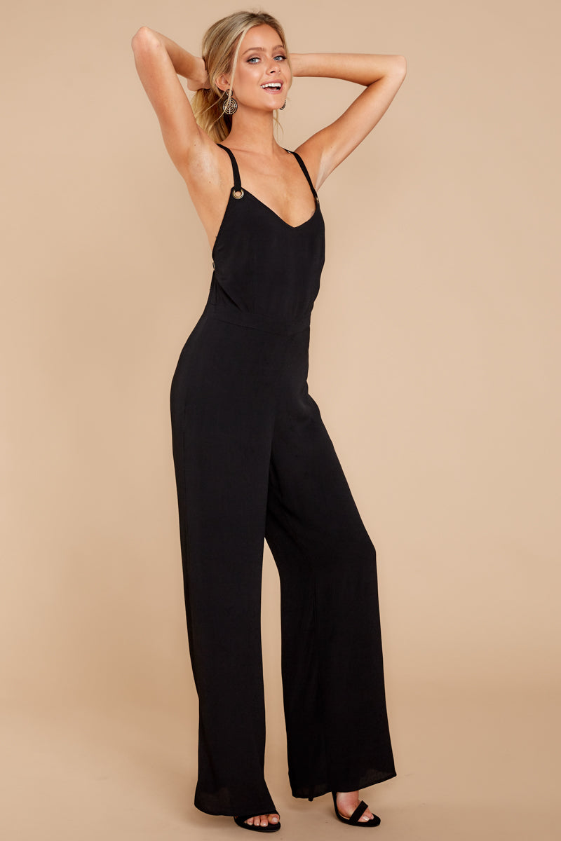 5 Only Up From Here Black Jumpsuit at reddressboutique.com