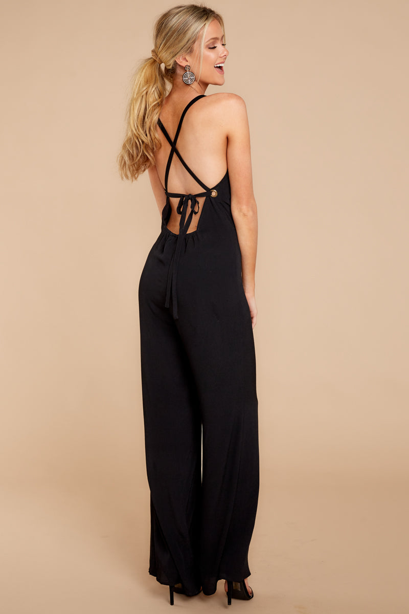 6 Only Up From Here Black Jumpsuit at reddressboutique.com