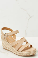 1 Make The Right Move Taupe Wedges at reddressboutique.com