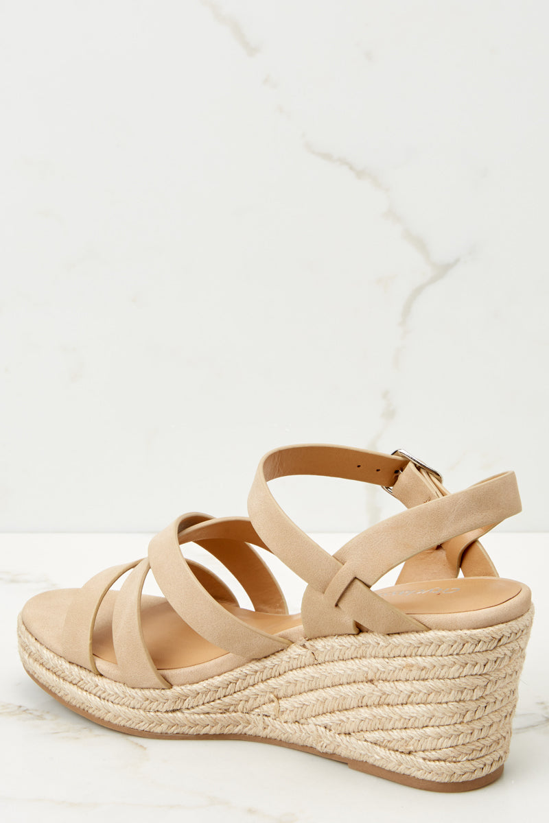 3 Make The Right Move Taupe Wedges at reddressboutique.com