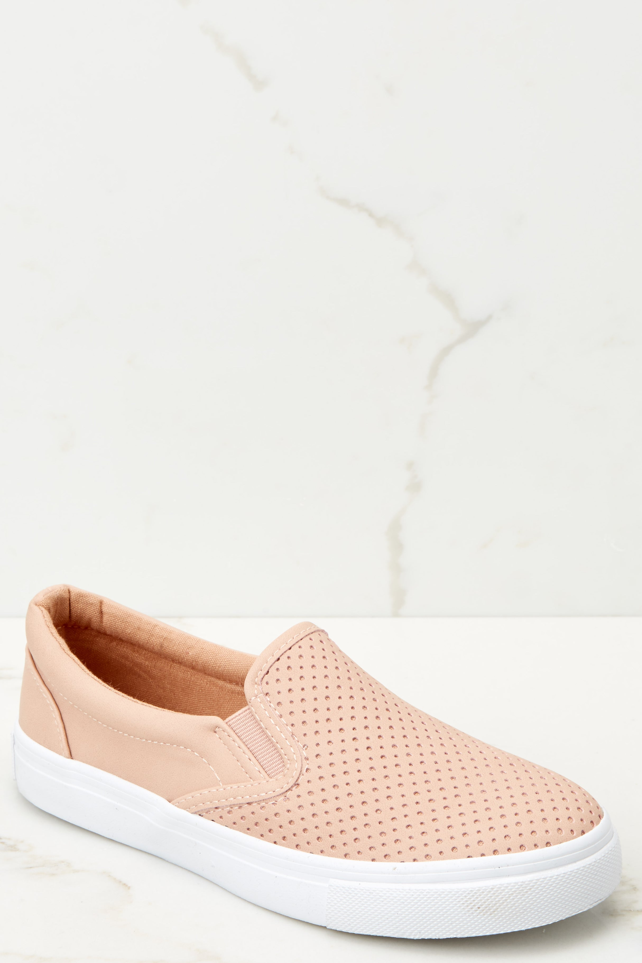 1 One Step Away Light Pink Slip On Sneakers at reddressboutique.com