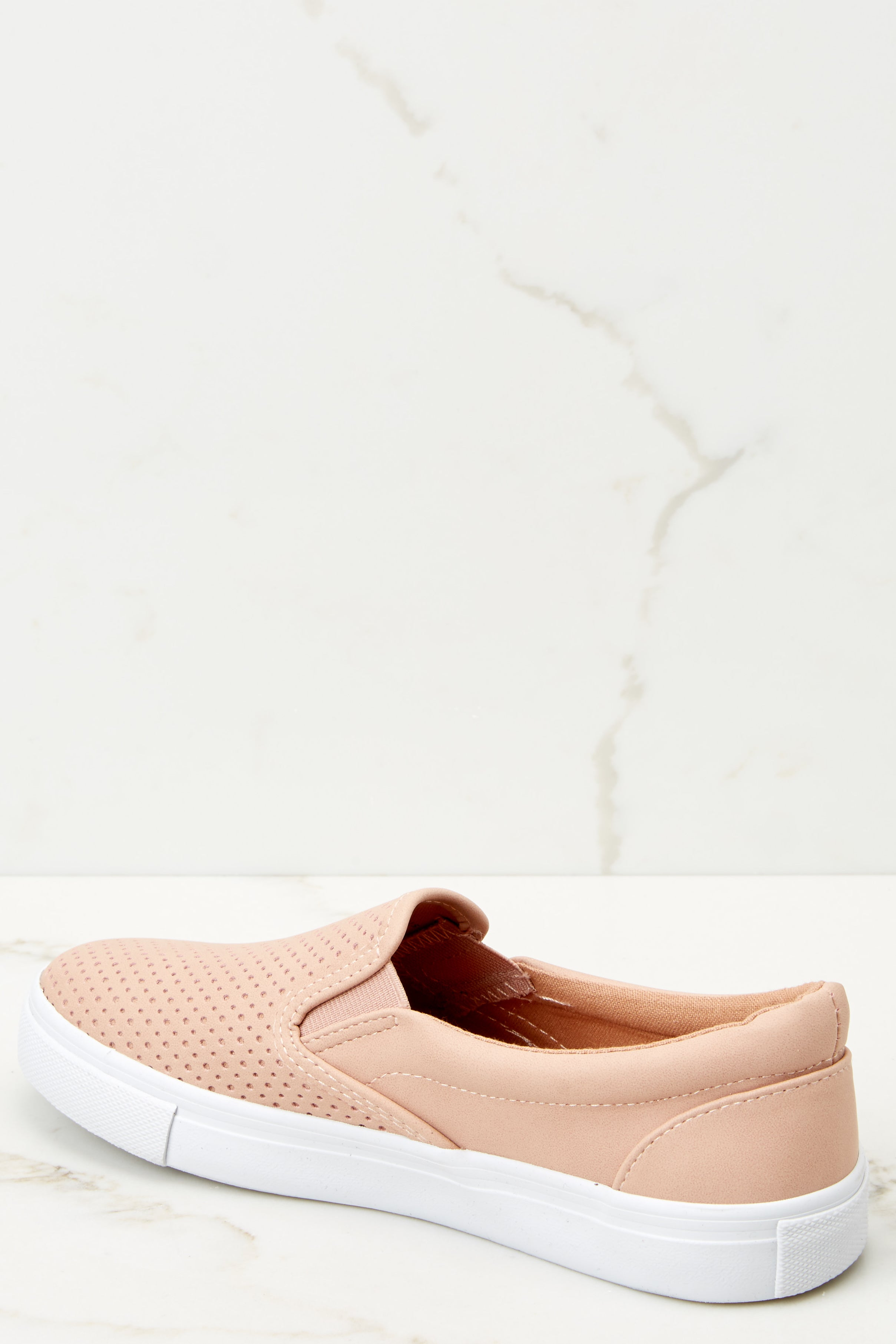 3 One Step Away Light Pink Slip On Sneakers at reddressboutique.com