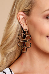 4 On Another Level Black Statement Earrings at reddressboutique.com