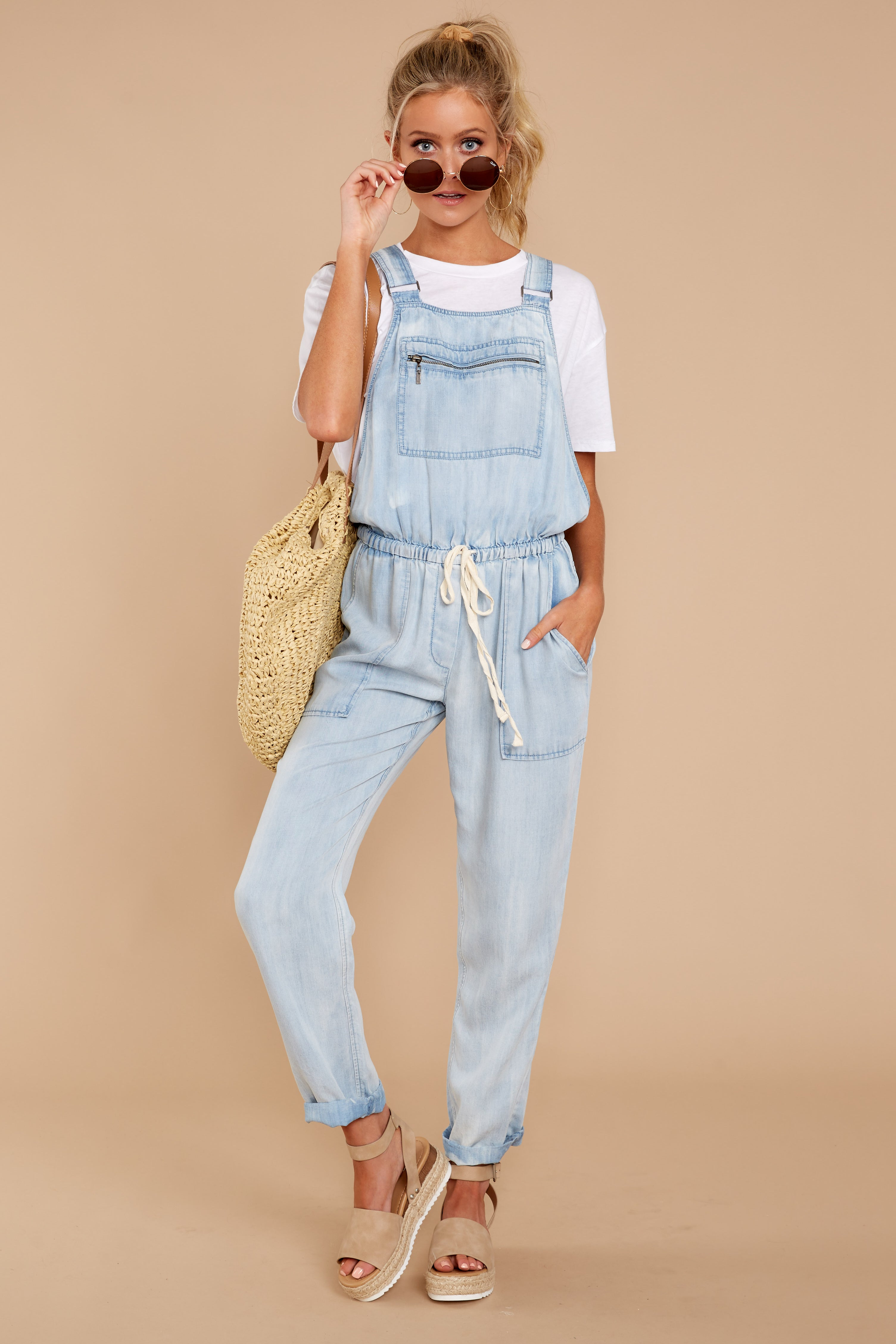 0caa8589ad28 Trendy Light Chambray Overalls - Cute Overalls - Overalls -  74.00 ...