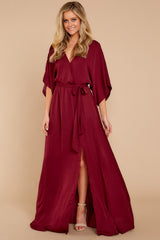 7 Can't Look Away Burgundy Maxi Dress at reddress.com