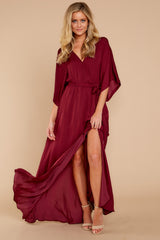 1 Can't Look Away Burgundy Maxi Dress at reddress.com