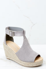 Don't Skip A Beat Grey Wedges