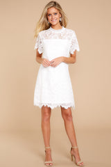 5 Give Me A Call White Lace Dress at reddressboutique.com