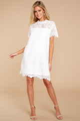 1 Give Me A Call White Lace Dress at reddressboutique.com