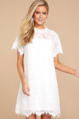 4 Give Me A Call White Lace Dress at reddressboutique.com