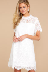 3 Give Me A Call White Lace Dress at reddressboutique.com