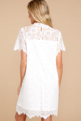 2 Give Me A Call White Lace Dress at reddressboutique.com