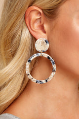 1 Looking For It Beige Tortoise Earrings at reddressboutique.com