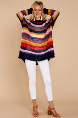 2 All This Time Pink Multi Sweater at reddressboutique.com
