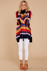 3 All This Time Pink Multi Sweater at reddressboutique.com