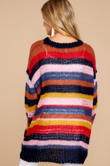 7 All This Time Pink Multi Sweater at reddressboutique.com