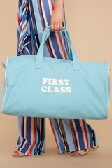 1 First Class Light Blue Getaway Duffle Bag at reddressboutique.com