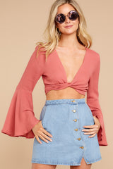 3 Wanting This Coral Tie Top at reddressboutique.com