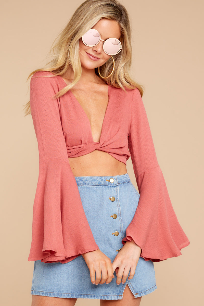 4 Wanting This Coral Tie Top at reddressboutique.com
