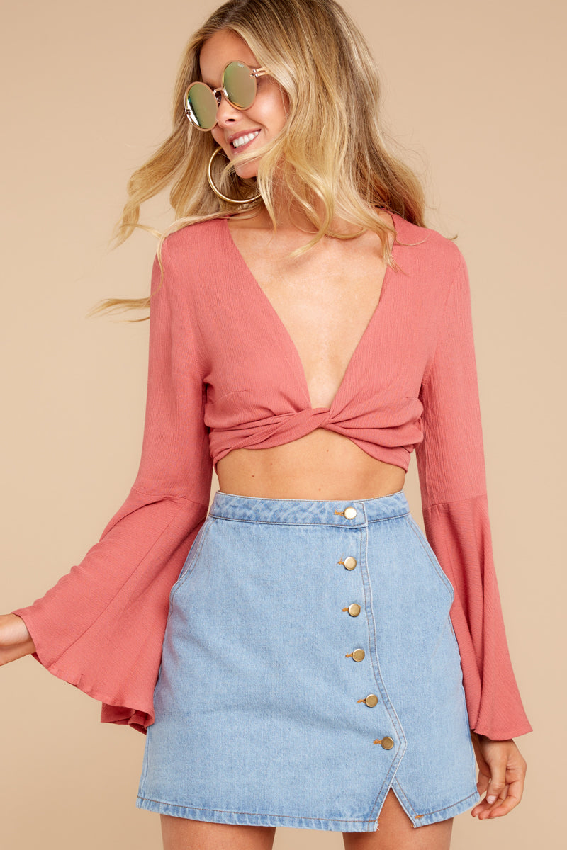 Wanting This Coral Tie Top at reddressboutique.com