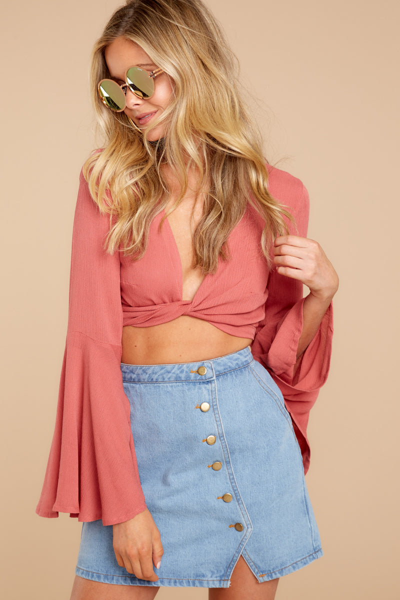 6 Wanting This Coral Tie Top at reddressboutique.com