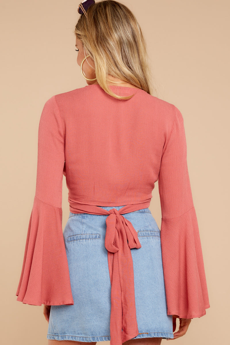 7 Wanting This Coral Tie Top at reddressboutique.com