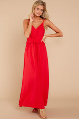 1 Simple Lifestyle Red Maxi Dress at reddressboutique.com