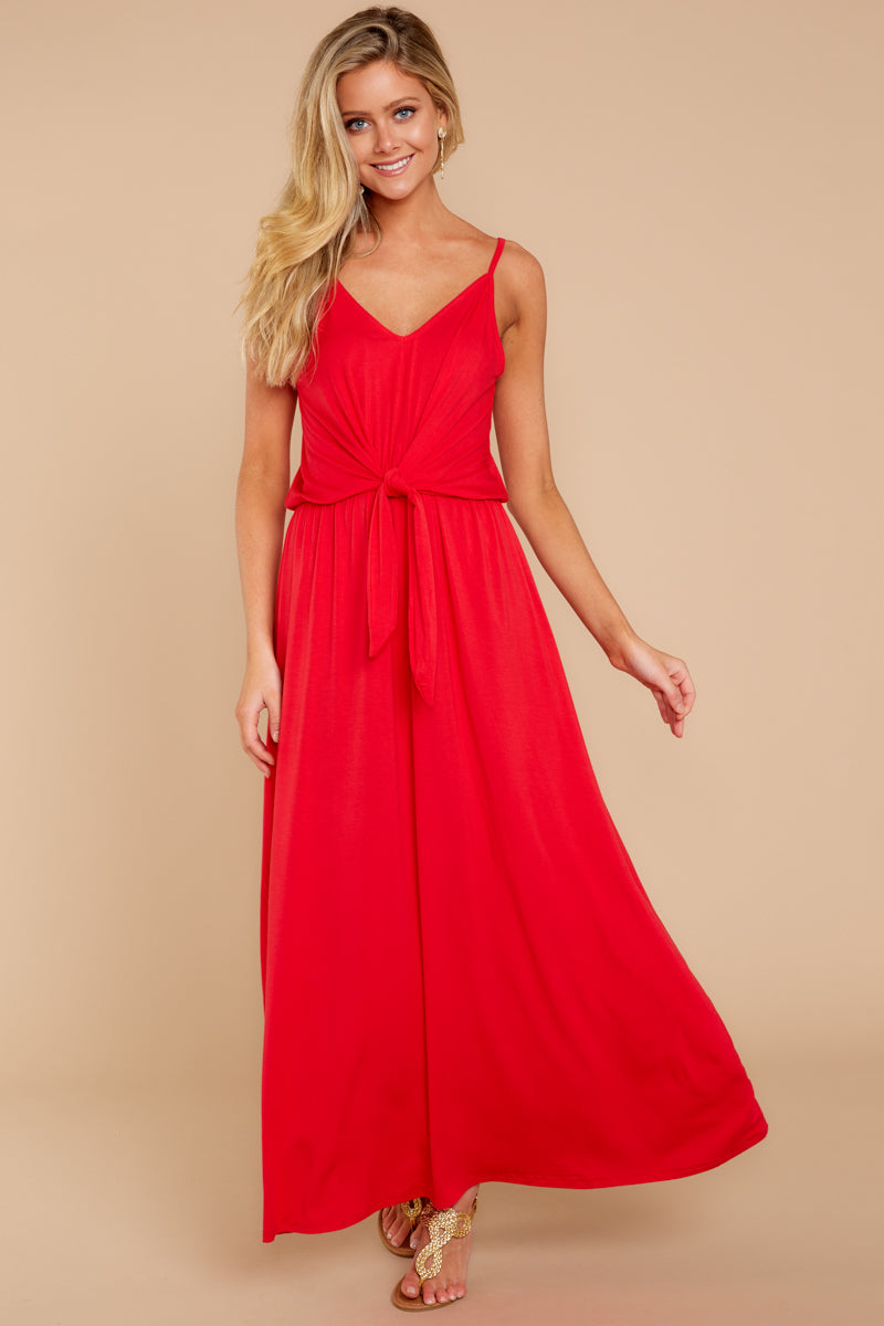 2 Simple Lifestyle Red Maxi Dress at reddressboutique.com