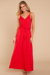 3 Simple Lifestyle Red Maxi Dress at reddressboutique.com