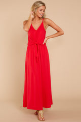 4 Simple Lifestyle Red Maxi Dress at reddressboutique.com