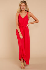 5 Simple Lifestyle Red Maxi Dress at reddressboutique.com