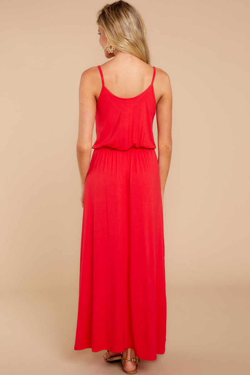 6 Simple Lifestyle Red Maxi Dress at reddressboutique.com